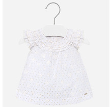 Mayoral blouse voile ruffled white