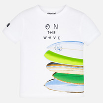 T-shirt surfboard white