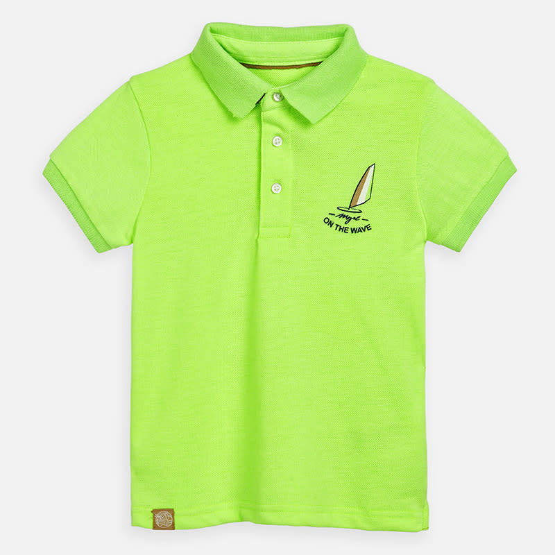 Mayoral Mayoral polo graphic neon acid