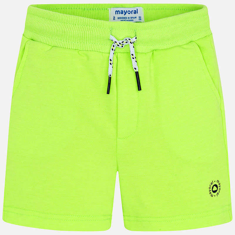 Mayoral Mayoral short basic fleece neon acid