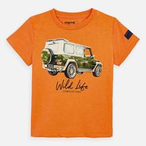 T-shirt vehicle orange