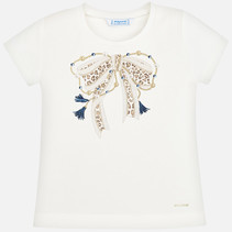 T-shirt bow natural
