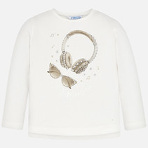 longsleeve headphone natural
