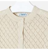 Mayoral Mayoral vest knit sand