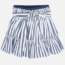 rok elastic waist blue