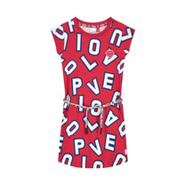 jurk Aafje cherry red letter