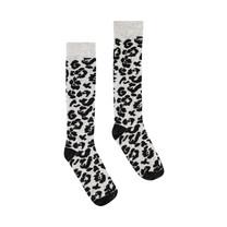 kniekousen April dark grey leopard