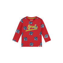 longsleeve Barry flame red tiger