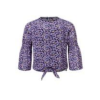 blouse flare sleeve flower ao