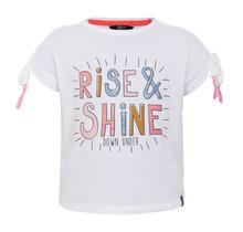 Beebielove T-shirt rise & shine white