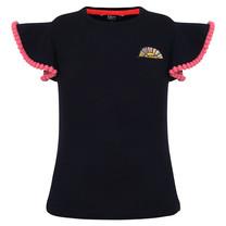T-shirt ruffle navy