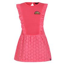 jurk ruffle pink