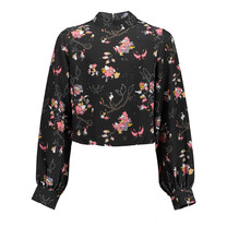 blouse Nanne black flower print