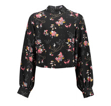 Frankie & Liberty blouse Nanne black flower print