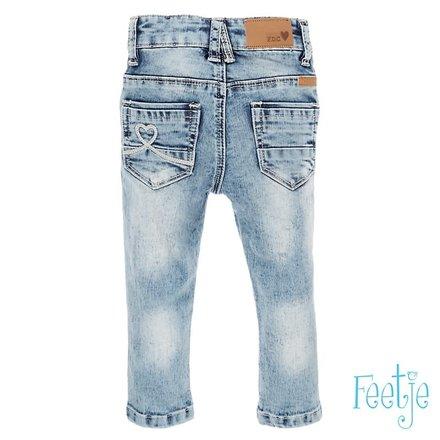 Feetje spijkerbroek power stretched slim fit licht blauw denim
