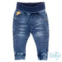 broekje knitted slim fit blue denim