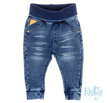 Feetje broekje knitted slim fit blue denim
