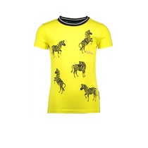 T-shirt with direct zebra embroidery lemon