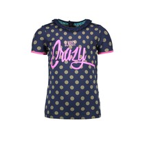 T-shirt ao dots with ruffle around neckopening mili dots