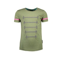 T-shirt with silver cord detail on chest mermaid
