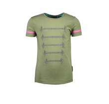 B.Nosy T-shirt with silver cord detail on chest mermaid