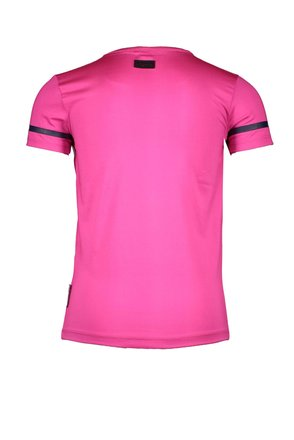 B.Nosy T-shirt with silver cord detail on chest pink glo