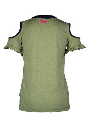 B.Nosy T-shirt glitter jersey with cut out on shoulder mermaid