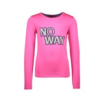 longsleeve uni with glitter artwork on chest pink glo