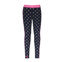 B.Nosy legging ao dots and pink glo piping on sideseam mili dots