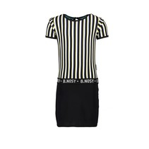jurk with yds top and lurex jersey skirt color stripe
