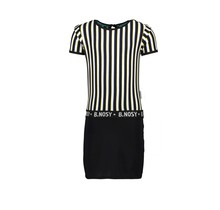 B.Nosy jurk with yds top and lurex jersey skirt color stripe