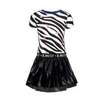 jurk with ao zebra printed top and coated skirt ao zebra