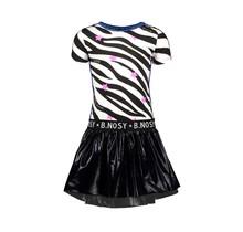 B.Nosy jurk with ao zebra printed top and coated skirt ao zebra
