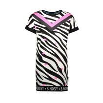 jurk sweat zebra aop with printed V-shaped stripe ao zebra