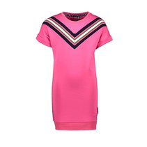 jurk scuba with V-shaped rib at front panel pink glo