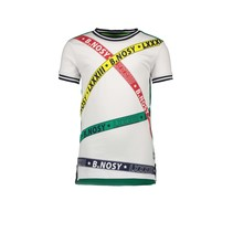 T-shirt with printed B.nosy tapes star white