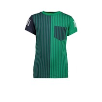 T-shirt with YDS front panel, ao dots back panel jade green