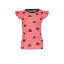 T-shirt with tigerdots ao and ruffle sleeve tiger dots
