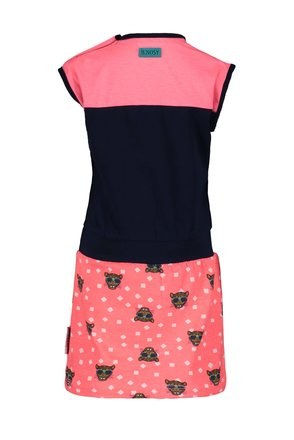 B.Nosy jurk with tiger dots aop skirt and cut and sew at top tiger dots