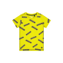 T-shirt Alain blazing yellow text