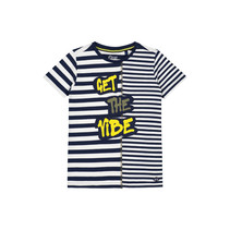 T-shirt Aaron dark blue stripe