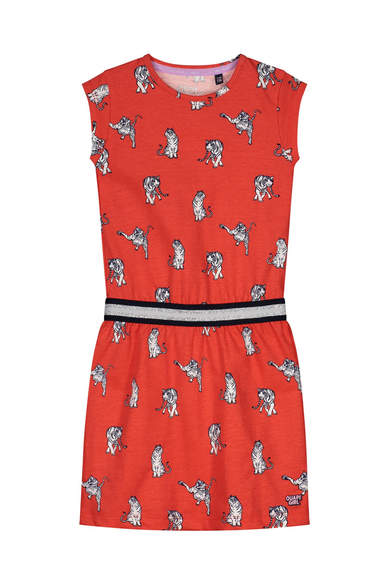 jurk Alette flame red animal