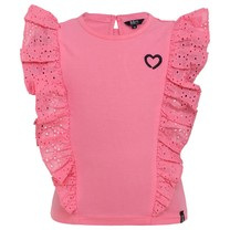 T-shirt ruffle pink