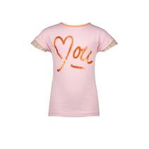 T-shirt Kiss twistable love me-you print coral