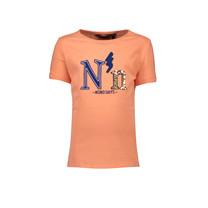 T-shirt Kua half sleeves folded nono days print coral