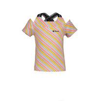T-shirt Karon multi clr stripes double layer toppart warm yellow
