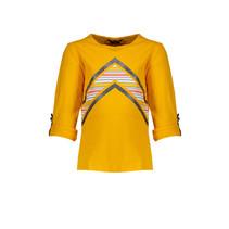 trui Kara roll-up with v print warm yellow