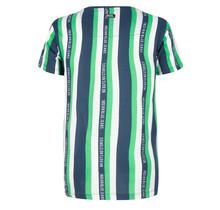 Indian Blue Jeans T-shirt no guts stripe island green
