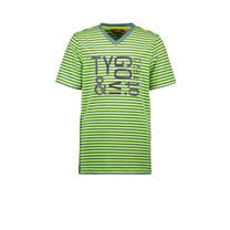 T-shirt stripe safety yellow