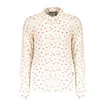 blouse Tinka aop hearts snow white